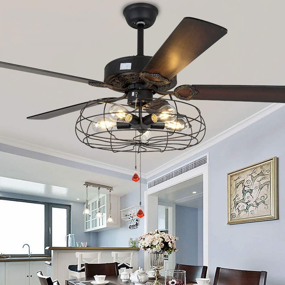 ventiladored de techo con luz